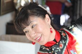 asian woman in national dress
