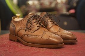 Beautiful brown leather shoes