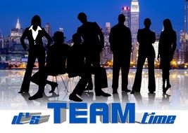 Silhouette of team clipart
