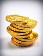 tower of gold coins