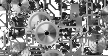 Gears in movement clipart