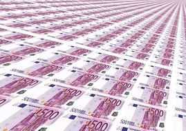 Euro banknotes, perspective, background