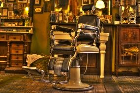 chair in the hairdresser's