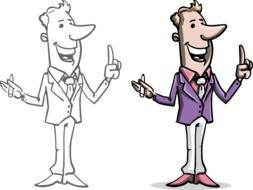 Businessmans Cartoon drawing