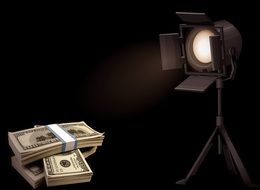 the spotlight is aimed at money