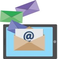 Icon of sending emails