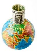 Dollar Money Globe Earth drawing