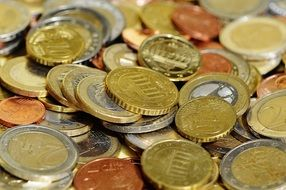 eurocents on the table
