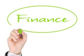 hand writing Finance word