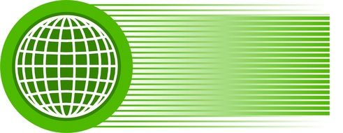 Globe Green Stripes drawing