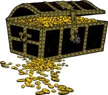 graphic image of a chest with gold coins