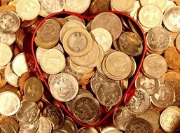 heart shaped coins