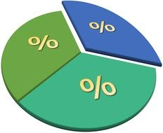 pie chart with percentage