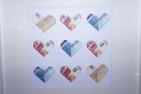 heart of banknotes
