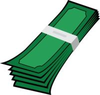 graphic image of a bundle of green money