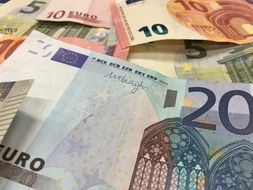heap of euro banknotes