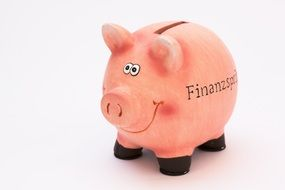 pink piggy bank for coins