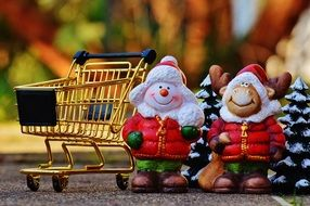 Shopping Christmas Cart fig