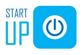 Startup, blue Business icon
