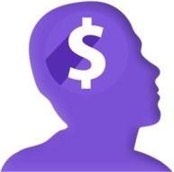 dollar sign on a man head silhouette