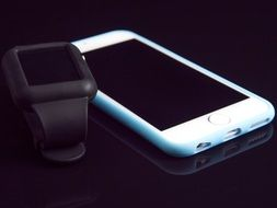 iWatch and white iPhone
