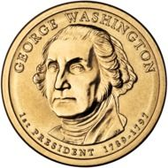 coin with a image of George Washington