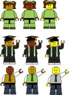 collage of lego students