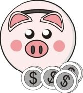 Piggy Bank Little Pig Coins