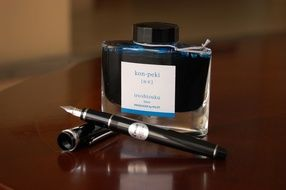 fountain pen with ink