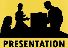 Showing business presentation clipart