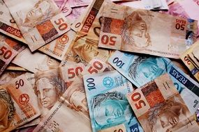 background with brazilian money