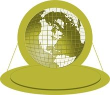 green logo with globe