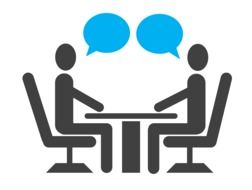 illustration of job interview