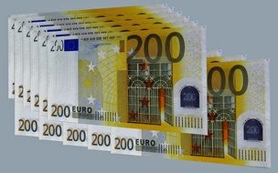 Euro banknotes as currency