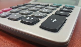 Closeup photo of Calculator