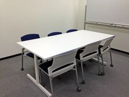 White desk in a Conference Room