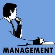 Business manager clipart