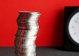 tower of euro coins