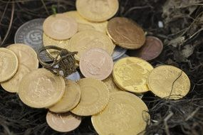 gold coins and valuables