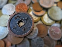 coin with a hole on euro coins