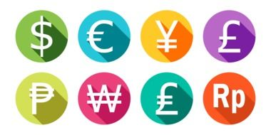 Different currencies clipart