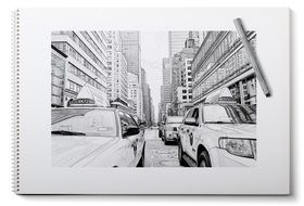 pencil drawing new york