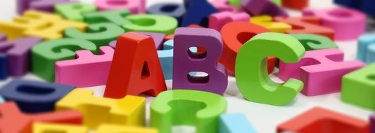 colorful letters on the table
