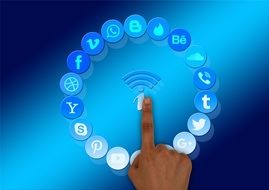 Social Media touchscreen Information