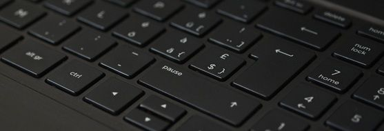 black keyboard close-up