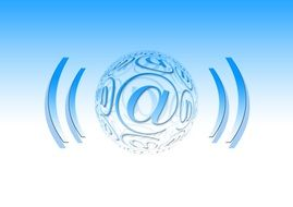 E-mail, Radiating spheric symbol