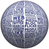 ball with media signs