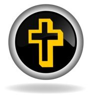 button with a yellow cross