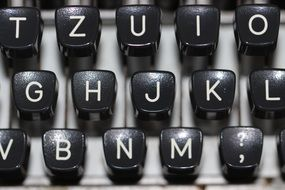 Black vintage keyboard
