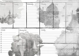 weekly layout paper